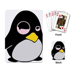 Lazy Linux Tux Penguin Playing Cards Single Design