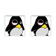 Lazy Linux Tux Penguin Cufflinks (Square)
