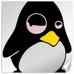 Lazy Linux Tux Penguin Canvas 20  x 20  (Unframed)