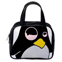 Lazy Linux Tux Penguin Classic Handbag (One Side)