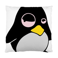 Lazy Linux Tux Penguin Cushion Case (Two Sided)