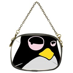 Lazy Linux Tux Penguin Chain Purse (two Sided)
