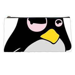 Lazy Linux Tux Penguin Pencil Case
