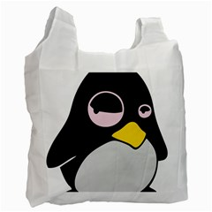 Lazy Linux Tux Penguin Recycle Bag (Two Sides)