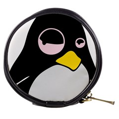 Lazy Linux Tux Penguin Mini Makeup Case