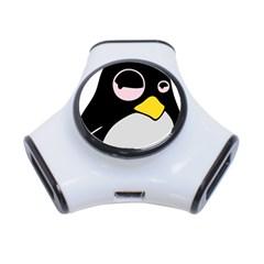 Lazy Linux Tux Penguin 3 Port Usb Hub