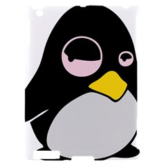 Lazy Linux Tux Penguin Apple iPad 2 Hardshell Case (Compatible with Smart Cover)