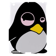 Lazy Linux Tux Penguin Apple iPad 3/4 Hardshell Case (Compatible with Smart Cover)