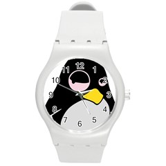 Lazy Linux Tux Penguin Plastic Sport Watch (Medium)