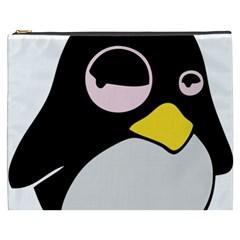 Lazy Linux Tux Penguin Cosmetic Bag (XXXL)