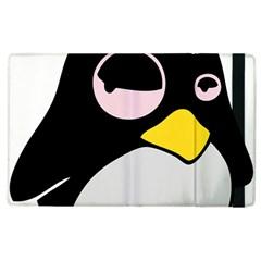 Lazy Linux Tux Penguin Apple Ipad 2 Flip Case