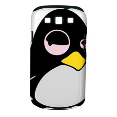 Lazy Linux Tux Penguin Samsung Galaxy S III Classic Hardshell Case (PC+Silicone)
