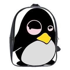 Lazy Linux Tux Penguin School Bag (XL)