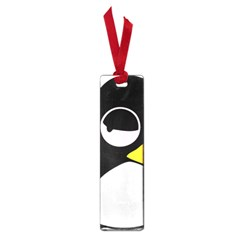 Lazy Linux Tux Penguin Small Bookmark