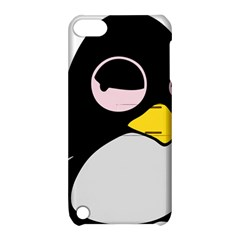 Lazy Linux Tux Penguin Apple iPod Touch 5 Hardshell Case with Stand