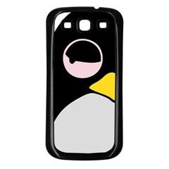 Lazy Linux Tux Penguin Samsung Galaxy S3 Back Case (black)