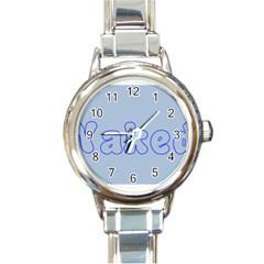 1logo2 Round Italian Charm Watch