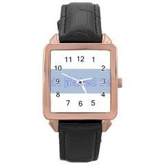 1logo2 Rose Gold Leather Watch