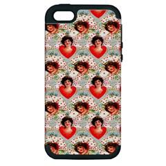 Vintage Valentine Apple iPhone 5 Hardshell Case (PC+Silicone)