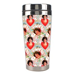 Vintage Valentine Stainless Steel Travel Tumbler