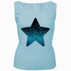Glitter Dust 1 Womens  Tank Top (Baby Blue)