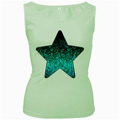 Glitter Dust 1 Womens  Tank Top (Green)
