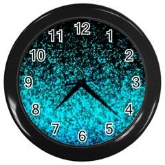 Glitter Dust 1 Wall Clock (Black)