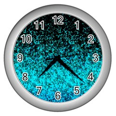 Glitter Dust 1 Wall Clock (Silver)