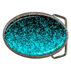 Glitter Dust 1 Belt Buckle (Oval)