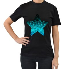 Glitter Dust 1 Womens' Two Sided T Shirt (black)