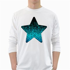 Glitter Dust 1 Mens' Long Sleeve T-shirt (White)