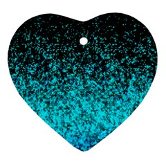 Glitter Dust 1 Heart Ornament (Two Sides)