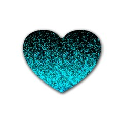 Glitter Dust 1 Drink Coasters (Heart)