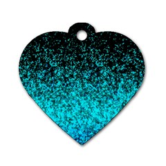 Glitter Dust 1 Dog Tag Heart (Two Sided)