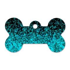 Glitter Dust 1 Dog Tag Bone (Two Sided)