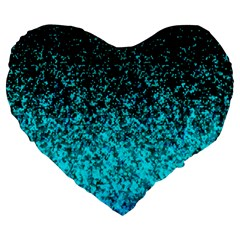 Glitter Dust 1 19  Premium Heart Shape Cushion