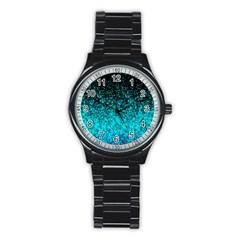 Glitter Dust 1 Sport Metal Watch (Black)