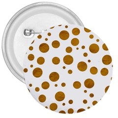 Tan Polka Dots 3  Button