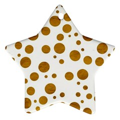 Tan Polka Dots Star Ornament
