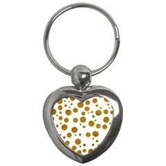 Tan Polka Dots Key Chain (heart)