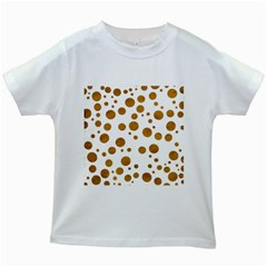Tan Polka Dots Kids' T-shirt (White)