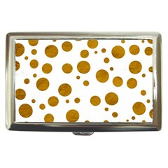 Tan Polka Dots Cigarette Money Case