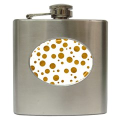 Tan Polka Dots Hip Flask