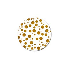 Tan Polka Dots Golf Ball Marker