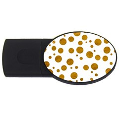 Tan Polka Dots 2GB USB Flash Drive (Oval)