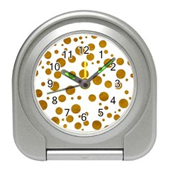 Tan Polka Dots Desk Alarm Clock