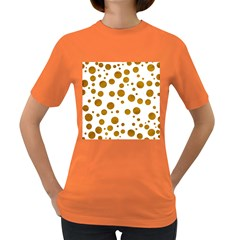 Tan Polka Dots Womens' T-shirt (Colored)