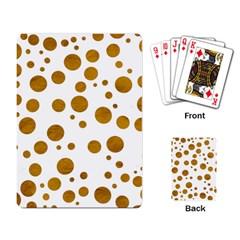Tan Polka Dots Playing Cards Single Design