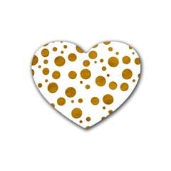 Tan Polka Dots Drink Coasters (Heart)