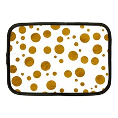 Tan Polka Dots Netbook Sleeve (medium)